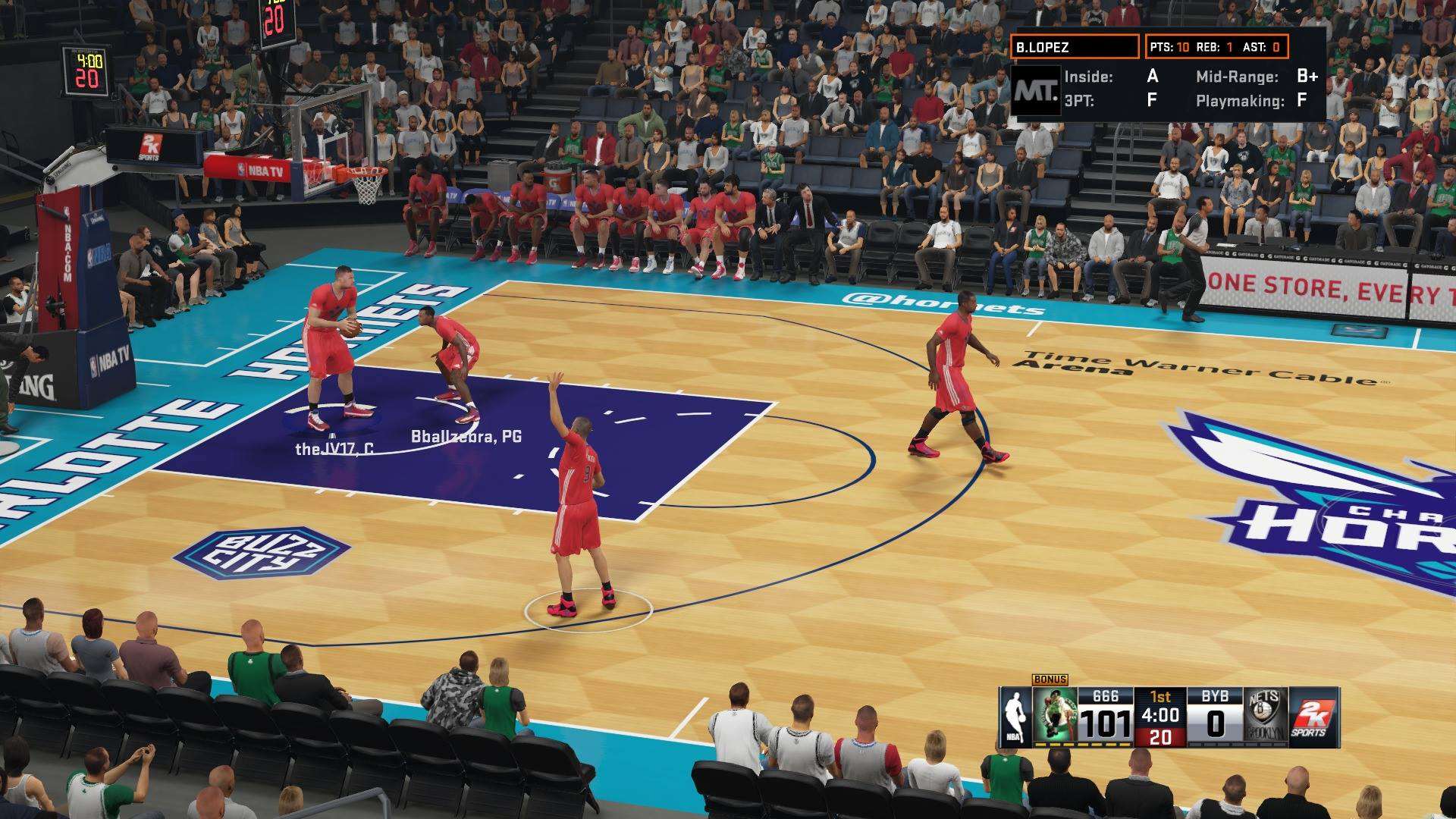 NBA 2K16 in game