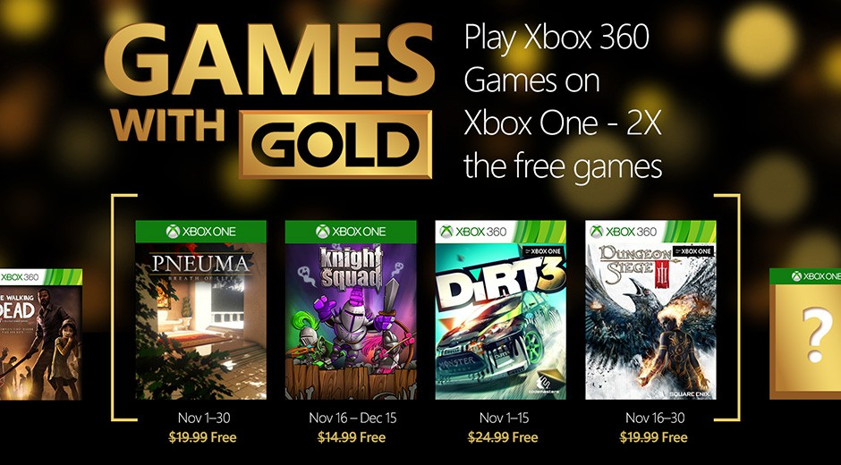 Games with Gold novembre 2015