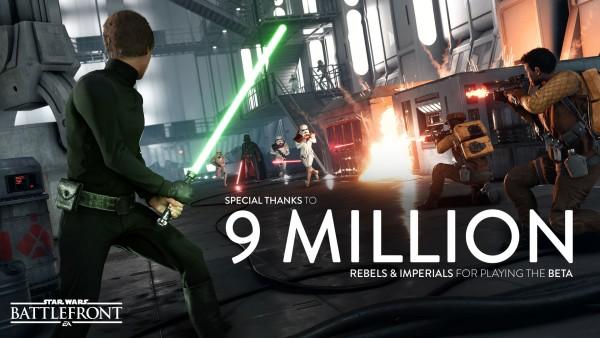 Star Wars Battlefront 9 milioni di utenti per la beta