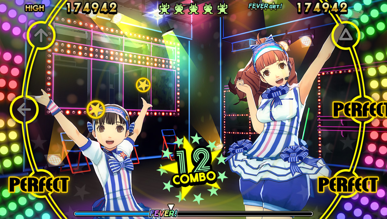 persona 4 dancing screen