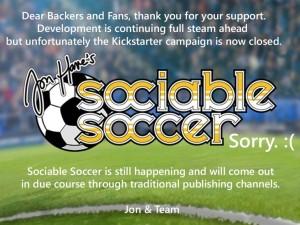 Sociable Soccer, chiusa in anticipo la campagna Kickstarter, lo sviluppo continua