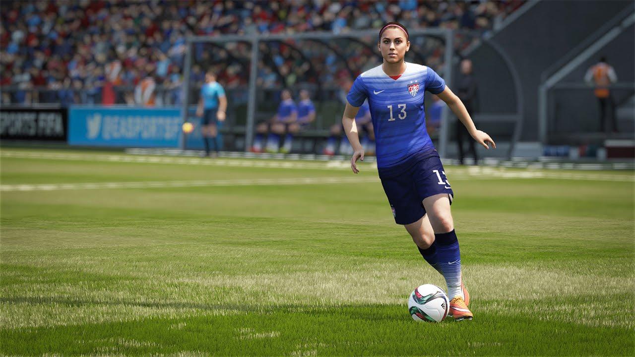 Alex Morgan, capitano della Nazionale femminile statunitense è sulla cover Usa del gioco