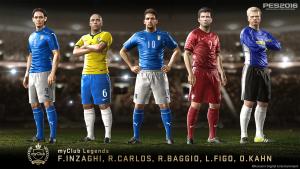 Baggio, Carlos, Figo, Inzaghi e Kahn: le leggende del grande calcio arrivano in PES 2016
