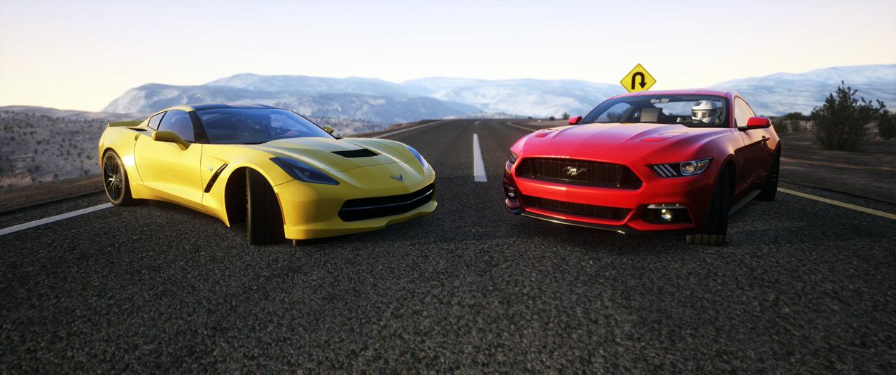 La Corvette C7 Stingray 2015 e la Ford Mustang 2015 saranno le prime vetture gratuite dell'anno nuovo