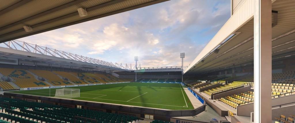Carrow Road, lo stadio del Norwich City