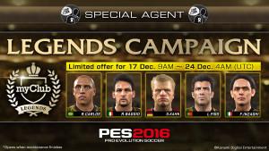 Le leggende del calcio, Baggio, Carlos, Figo, Inzaghi e Kahn arrivano nel myClub di in PES 2016