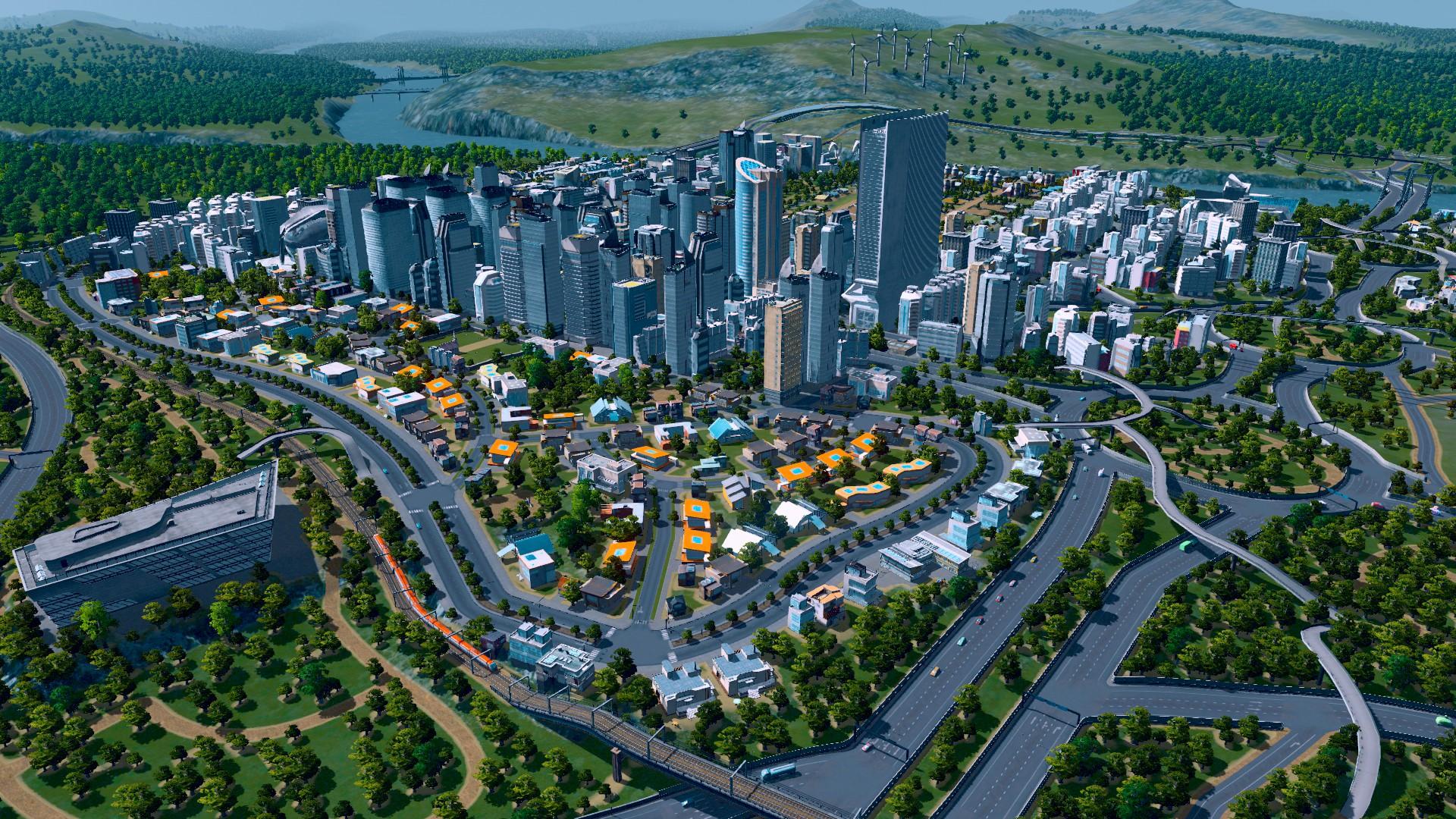 Città in espansione, come vedete le strade sono sinuose e permettono ugualmente lo sviluppo di agglomerati urbani di un certo rilievo