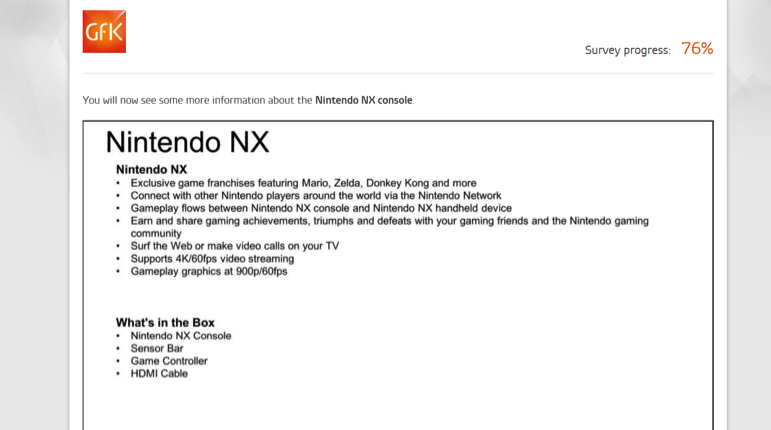 Nintendo NX specifiche tecniche rumor