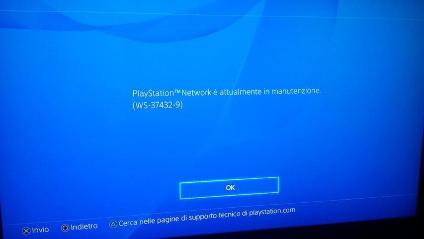 PSN offline 4 gennaio 2016