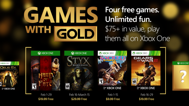 games with gold xbox febbraio 16
