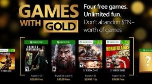 Annunciati i Games with Gold di marzo 2016
