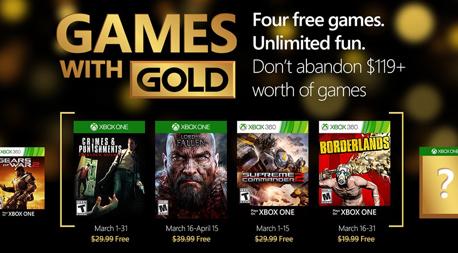 Games with gold marzo 2016