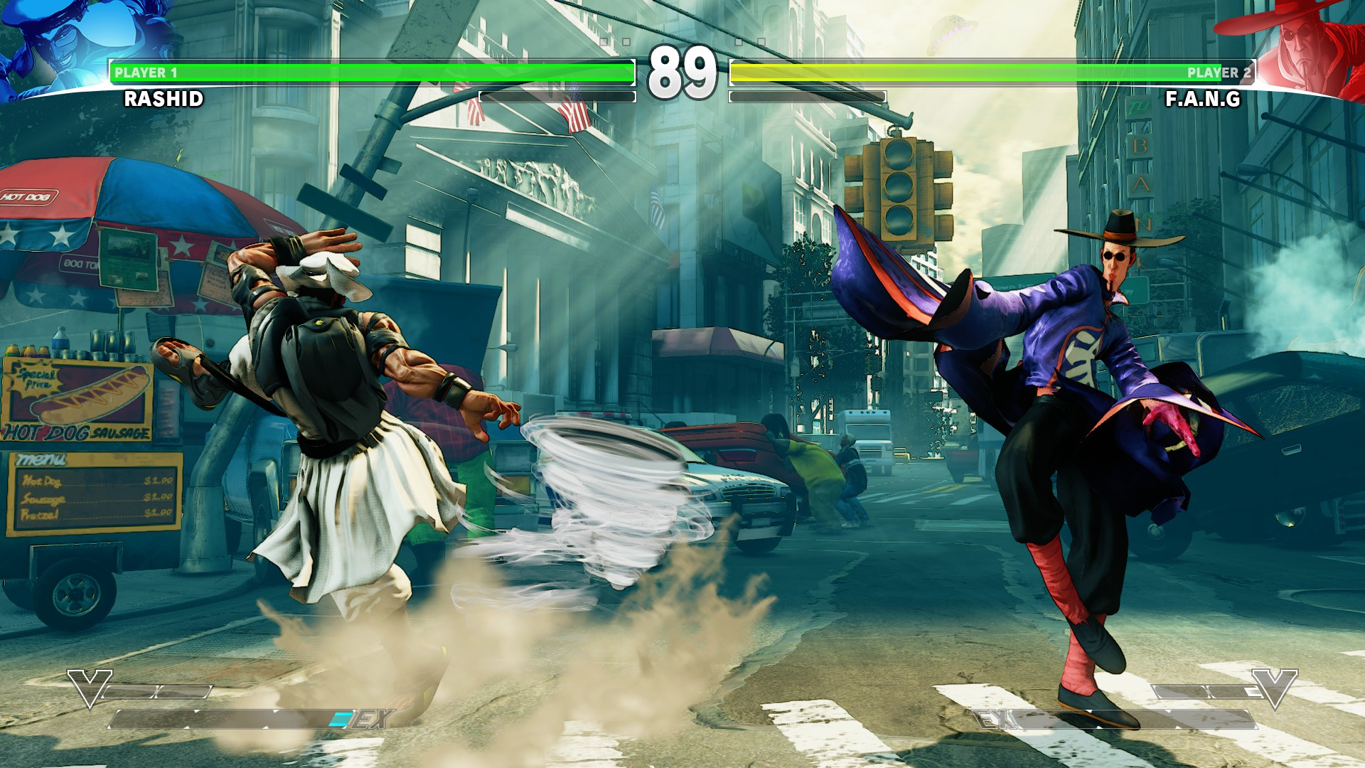 Street Fighter V Rashid vs fang