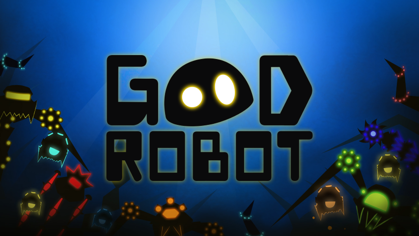 good robot logo with bg