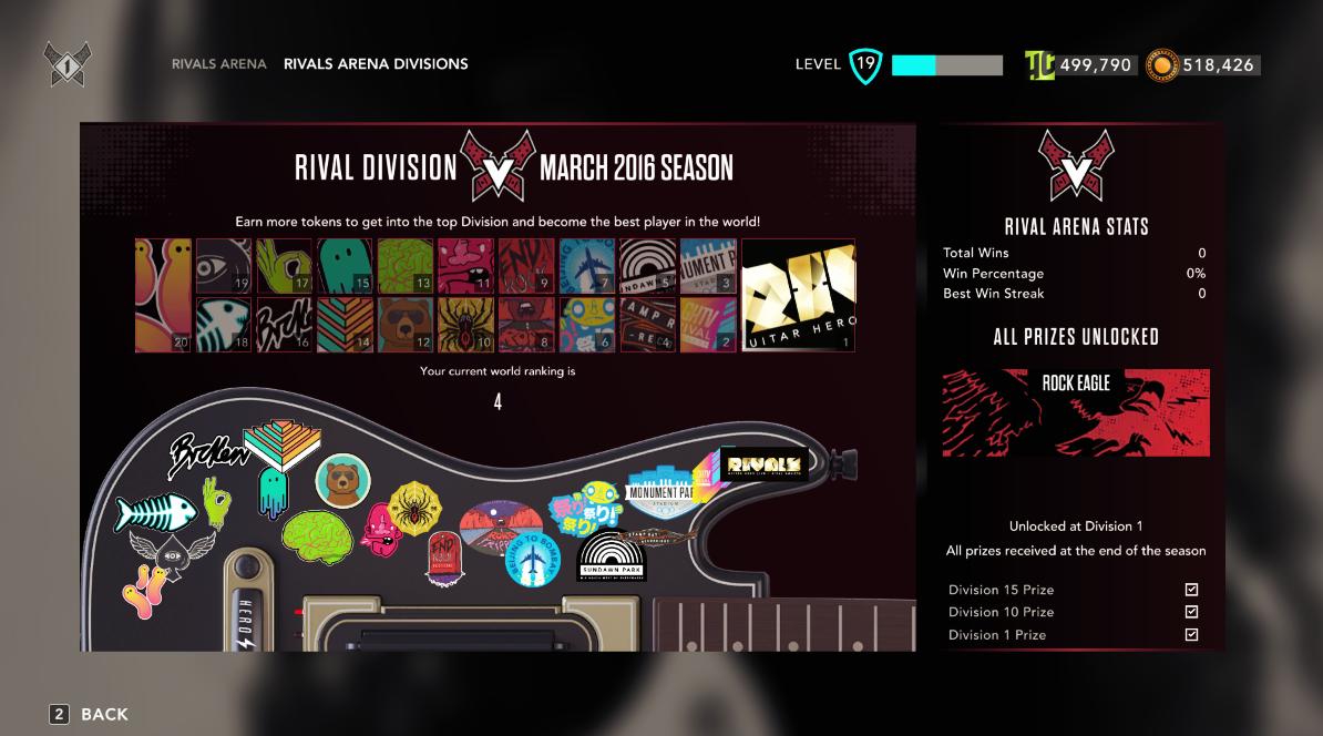 Rivals Arena Stickers Screen
