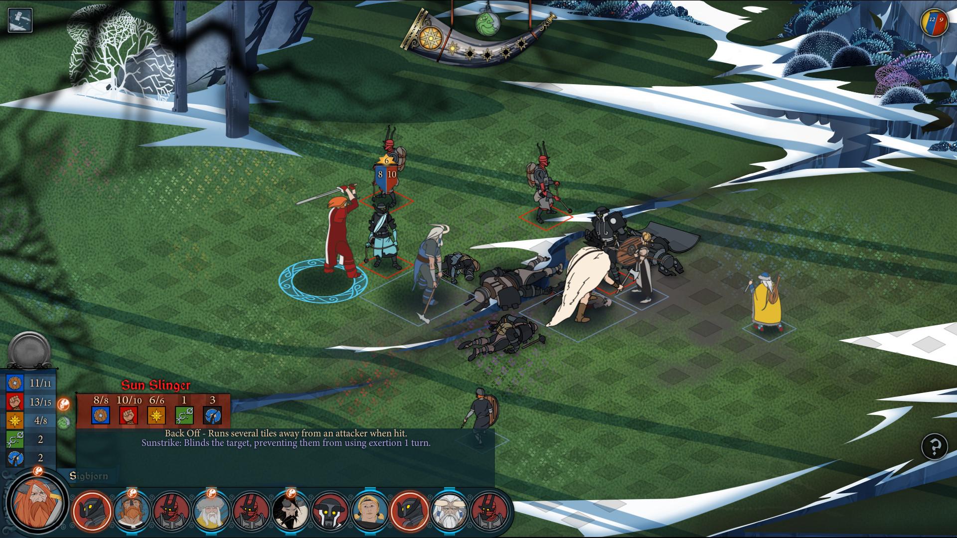 Le battaglie a turni sono generalmente più vaste rispetto a The Banner Saga