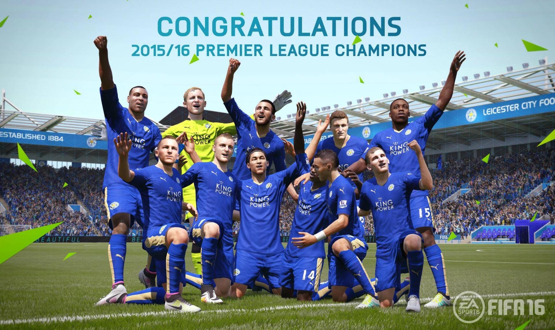 Leicester Fifa 16 campione di Inghilterra