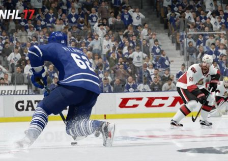 NHL 17 in game