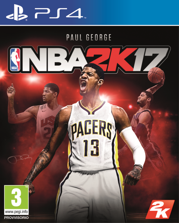nba 2K17 Paul George cover