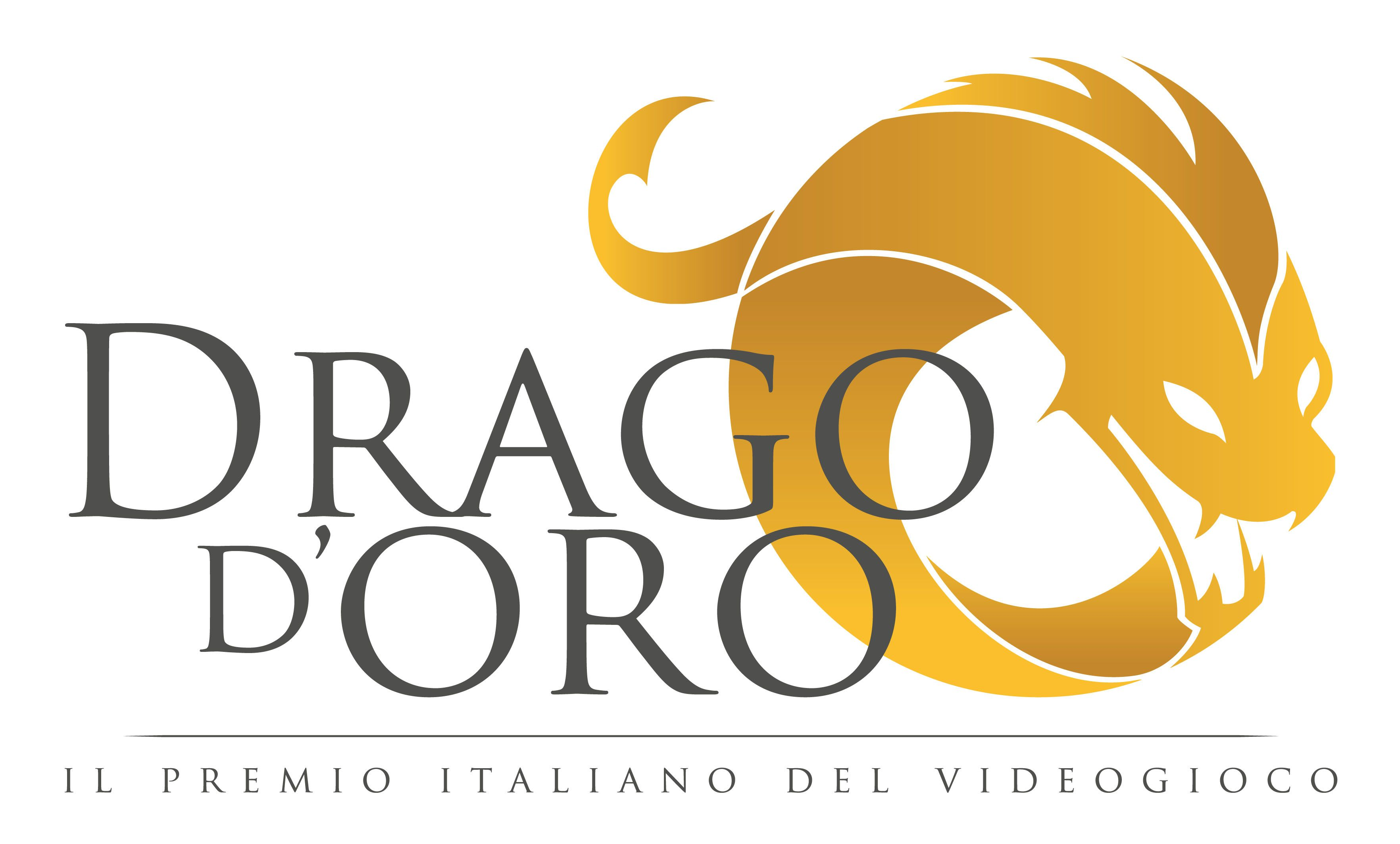 Drago d'Oro - Logo Bianco