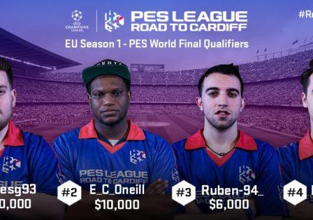 Primi finalisti europei PES League road to cardiff