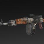 AKA-47 + Drum Mag + Silencer + Collimator + lasersight