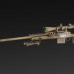 ES-25 + bipod + silencer + NATO 8x scope