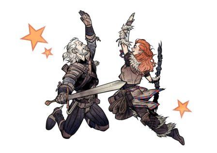 Geralt ed Aloy High Five