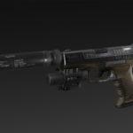 Herrvalt 99 + silencer + lasersight