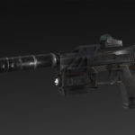 SP M23 + flashlight + silencer + collimato