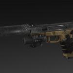 Wagram 21 + silencer + lasersight
