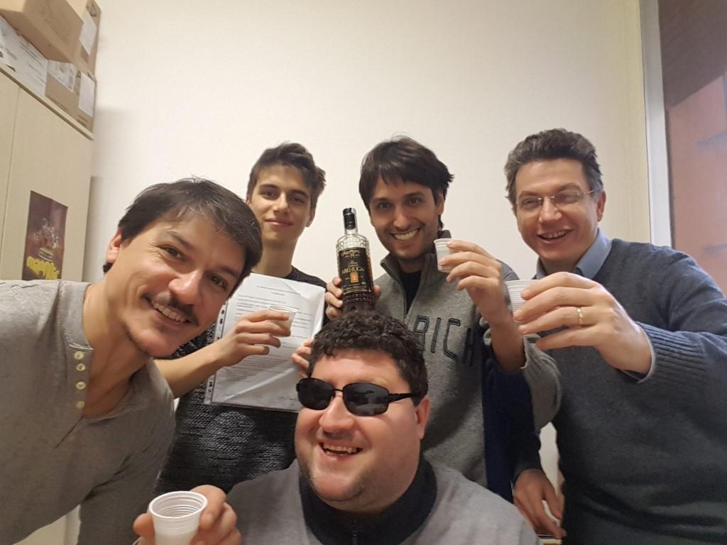 Nella foto: Ivan Venturi, Simone Dosi, Stefano Enea Cabra, Luca Contato e Mirko Venturi