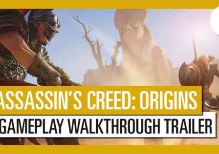 Assassin's Creed Origins walkthrough trailer ubisoft