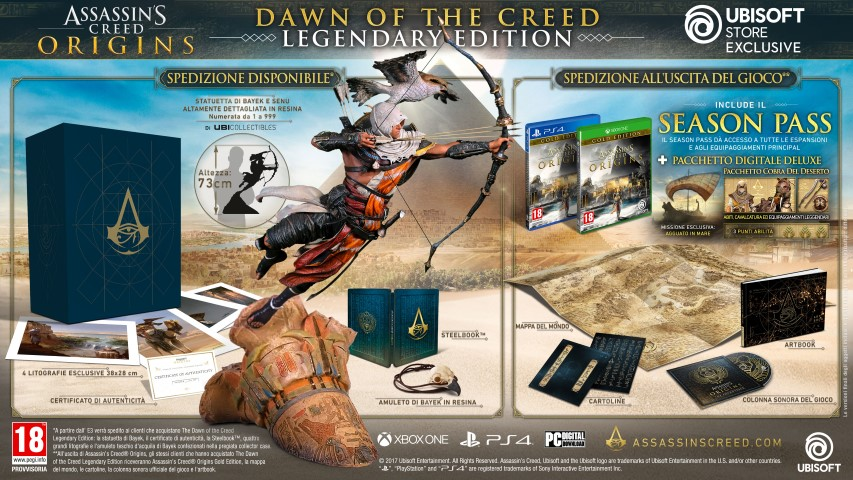 Assassin's Creeed Origins_COLLECTOR_DOTC_LEGENDARY_IT