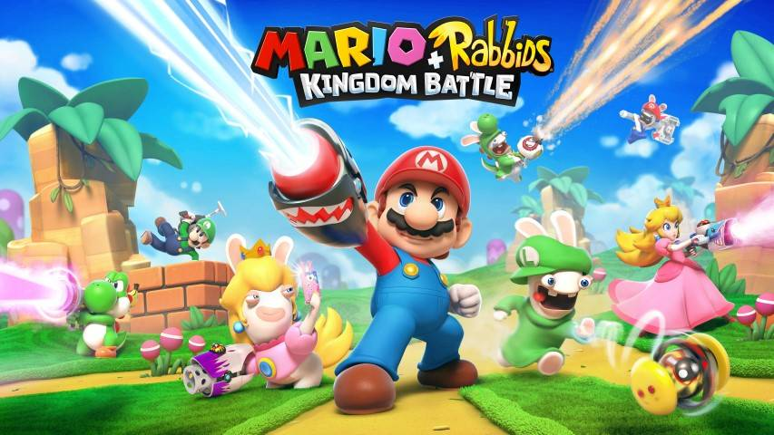 Mario + Rabbids Kingdom Battle Keyart