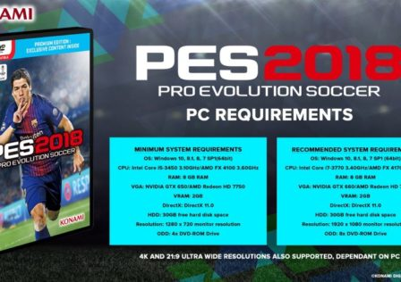 PES 2018 PC Requirements