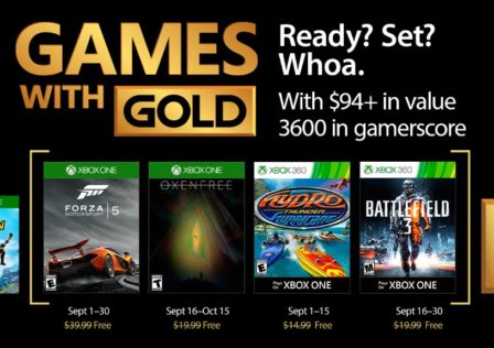 Games with gold settembre 2017