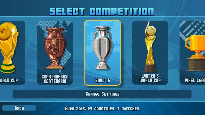 Pixel Cup Soccer 2017 competizioni