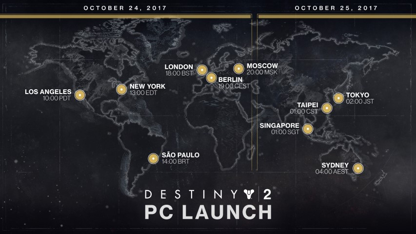 Destiny 2 mappa lancio Pc