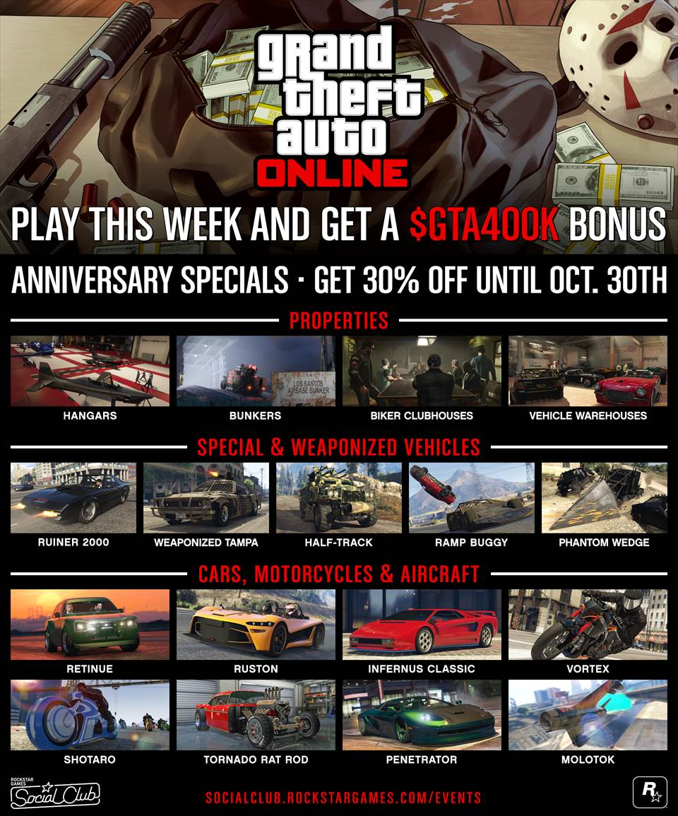 GTA Online 400K bonus