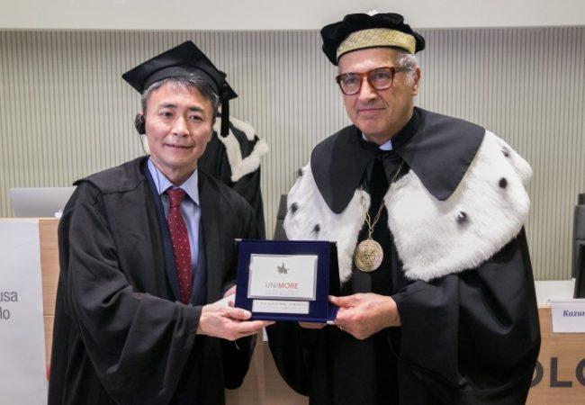 Kazunori Yamauchi viene insignito della Laurea ad honorem in Ingegneria del veicolo