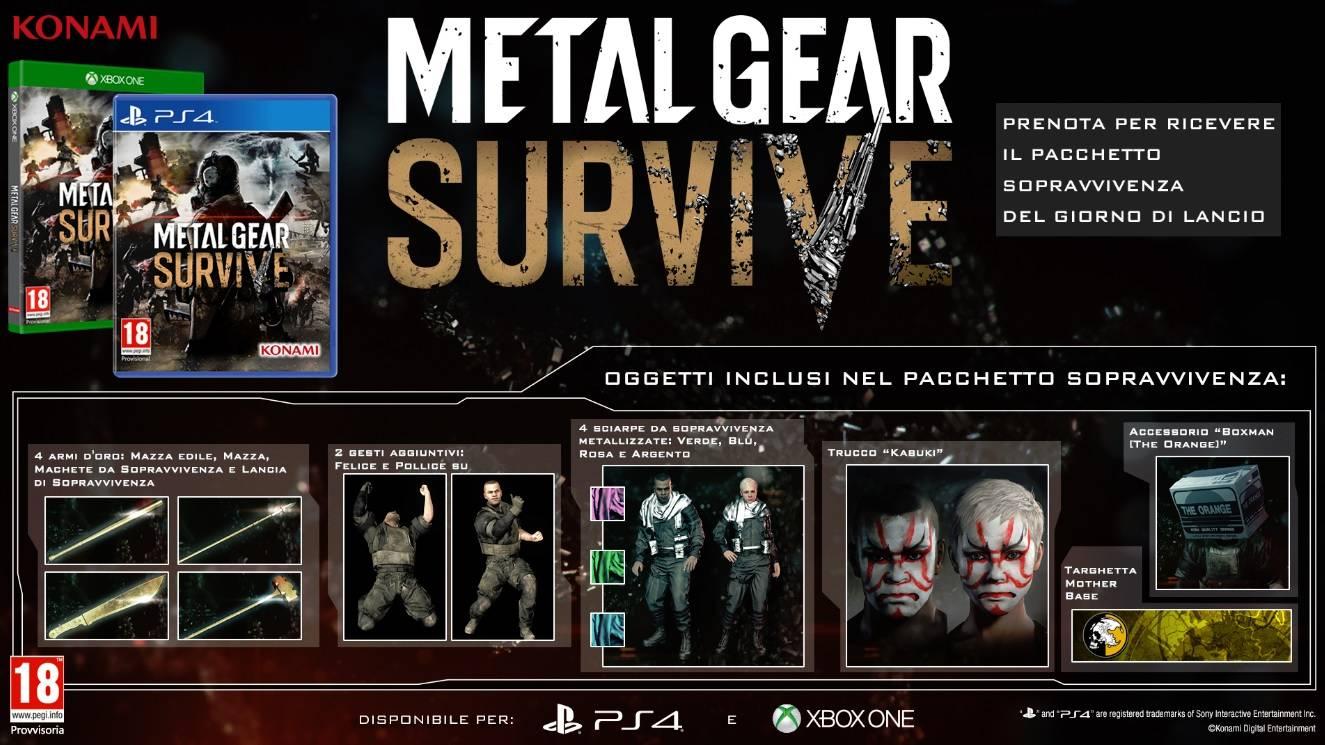 Metal Gear Survive Bonus Pre Order