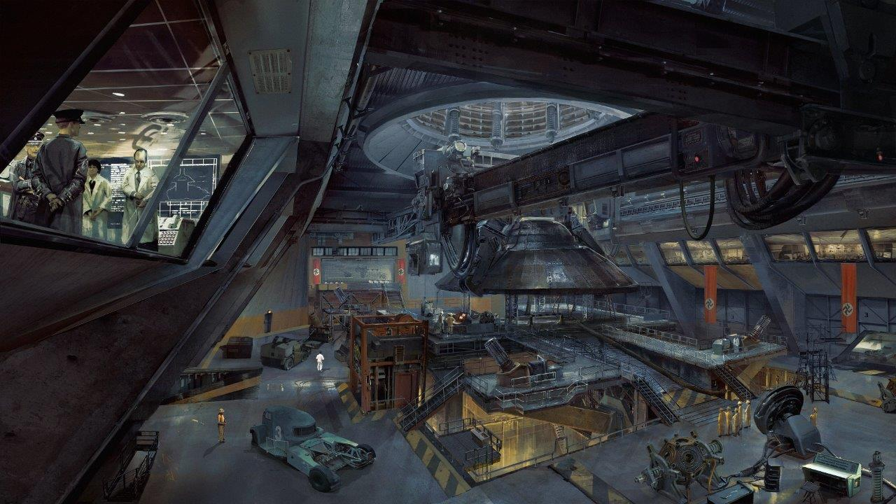 ROW_Wolfenstein II_Area_52_hangar_interior