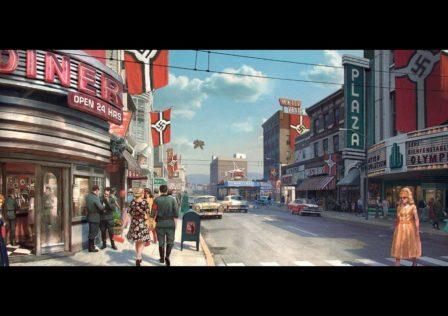 ROW_Wolfenstein II_Texas_Streetview_daytime