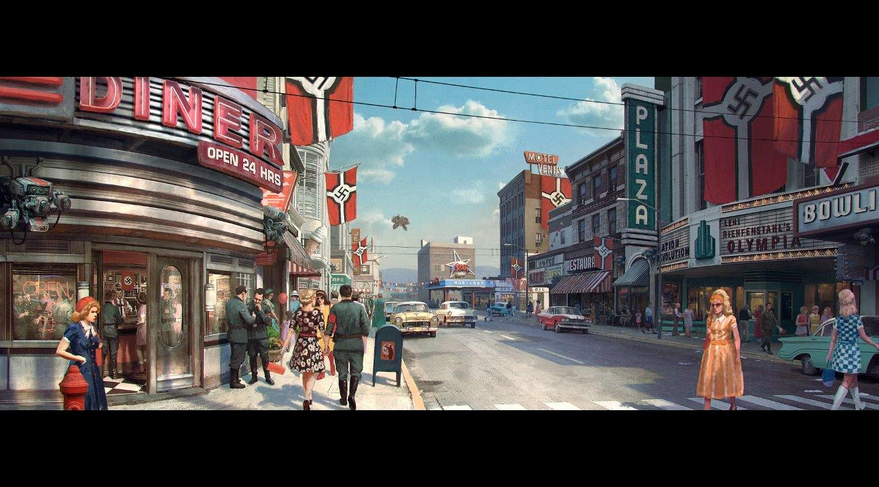 ROW_Wolfenstein II_Texas_Streetview_daytime