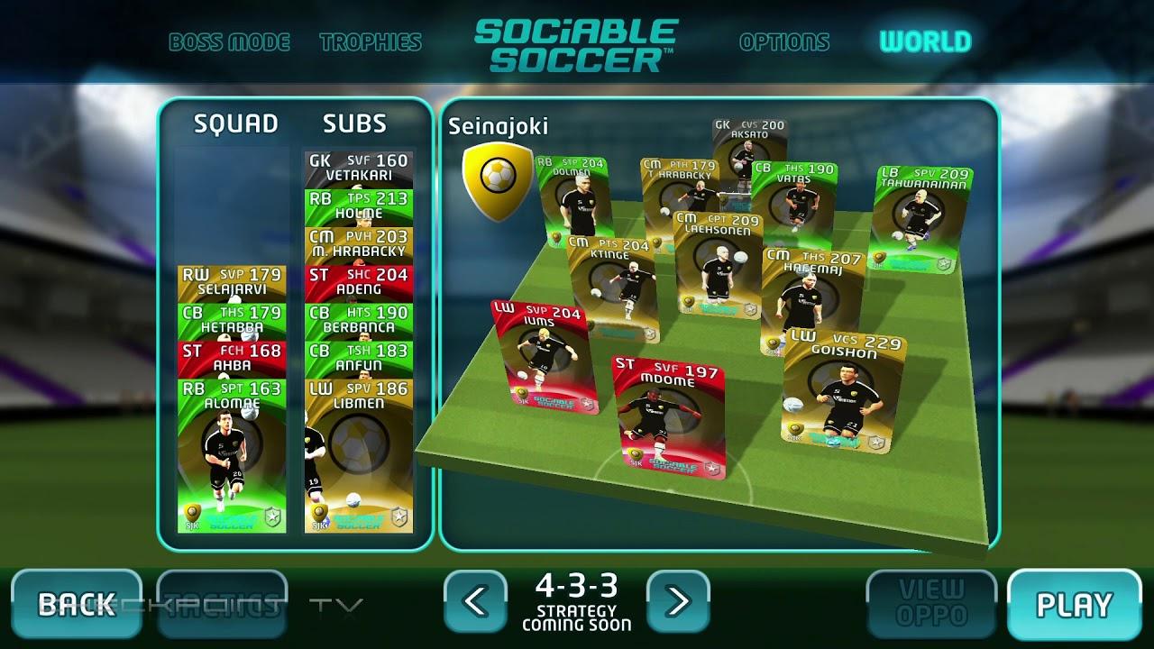 Sociable Soccer A