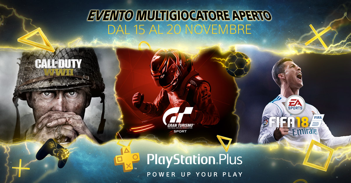 PS Plus - Evento Multigiocatore Aperto