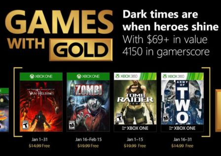 Games for Gold gennaio 2018