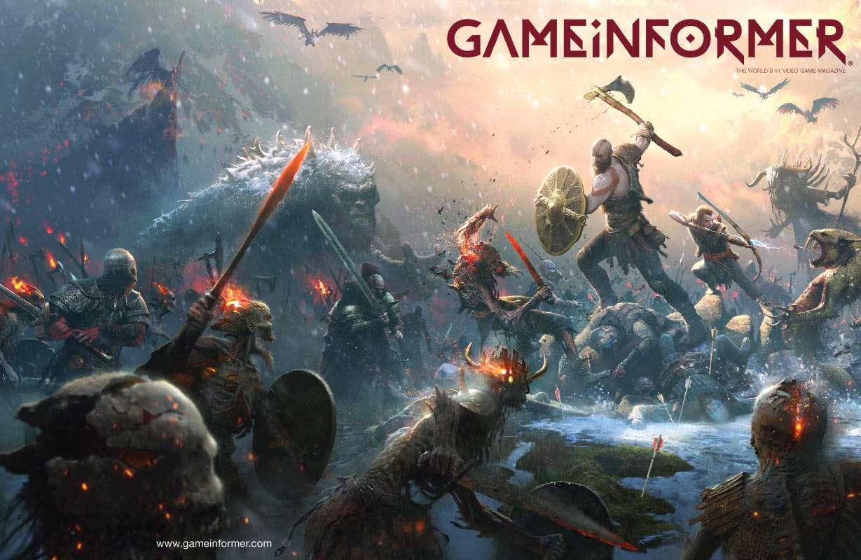 God of War copertina febbraio 2018 di gameinformer