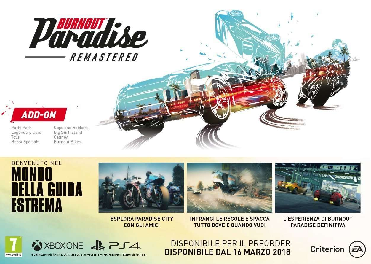 burnout paradise remastered recensione ps4 cellicomsoft. Black Bedroom Furniture Sets. Home Design Ideas